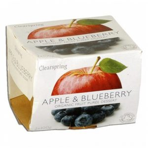 Fruit Puree Apple&Blueberries 2X100Gr