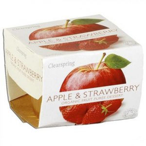 Fruit Puree Apple & Strawberry 2X100Gr