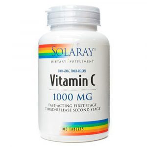 Solaray Vitamina C 1000 mg 100 Comprimidos