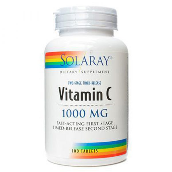 Solaray Vitamin C 1000 mg 100 Tablets