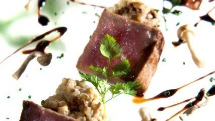 Healthy Recipes: Tuna tataki with mushrooms risotto