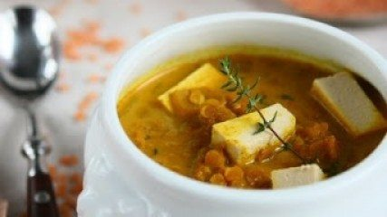 Healthy Recipes: red lentil soup with curry