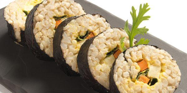 sushi rolls with vegetables and tofu