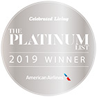 Best Wellness Resort - The 2019 Platinum List Awards Celebrated Living por American Airlines